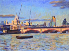 St Paul's & Blackfriars Bridge at Sunset II