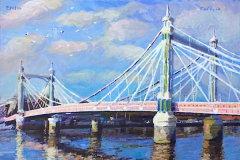 Albert Bridge, London Afternoon