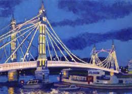 Dusk at Albert Bridge