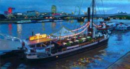 River Boat on Thames at Dusk