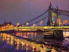 Hammersmith Bridge at Night