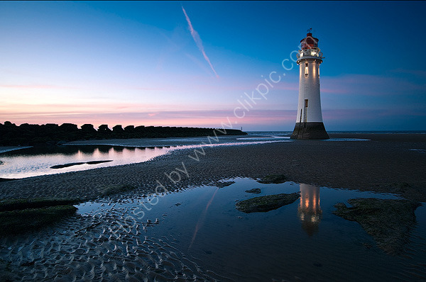 Winters Night At Perch Rock Lighthouse