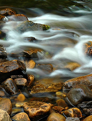 Water Flow Over Riverbed