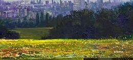 Parliament Hill Cumulus 70 x 113cm oil on canvas £1500