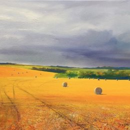 Yorkshire Bales. Oil on Canvas.  60x112cm  £1200