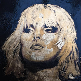 Debbie. Enamel & Gold Leaf on Board. 35x35cm £350