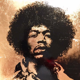 Jimi II.  Enamel & Gold Leaf on Board.   35x35cm   £350