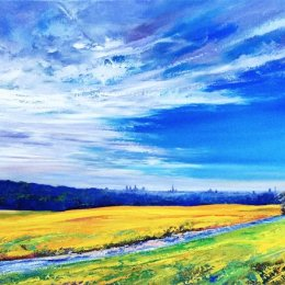 London from Kenwood House. Oil on Canvas.  90x200cm  £2500