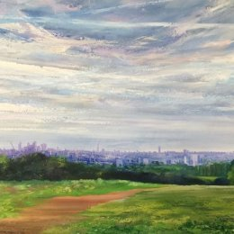 Parliament Hill 26th June 2016 Oil on Canvas 90x190cm £2500