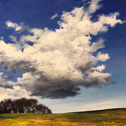 Cumulus Hill 50x40cm oil on board £650