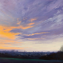 '630am London' oil on board 50x40cm £650