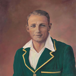 Don Bradman. Oil On Canvas. Bradman Childhood Home 52 Shepherd St. Bowral NSW