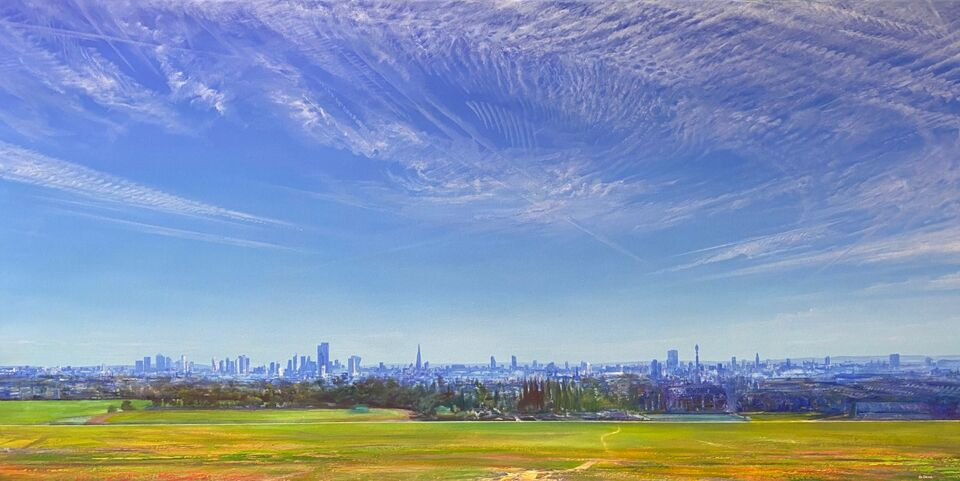 Parliament Hill, Oil on Canvas 160x80cm £2500