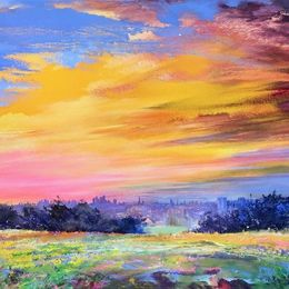 'Neon Morning' oil on canvas 160x80cm £2500