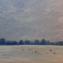 Sledging on Parliament Hill 60x40 £550