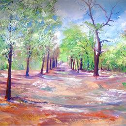 Lime Avenue.  Oil on Canvas 120x150cm.   £1050