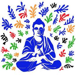 Matisse Buddha by Ed Sumner Framed Ltd Edition Print 70x70cm £180