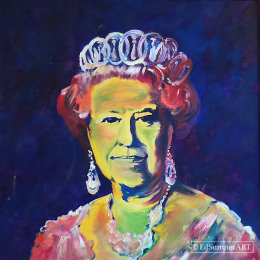 Our Queen    Framed print 70x70cm     £150