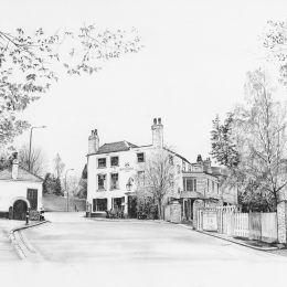 The Spaniards Inn. Hampstead. Framed print 30x40cm    £80