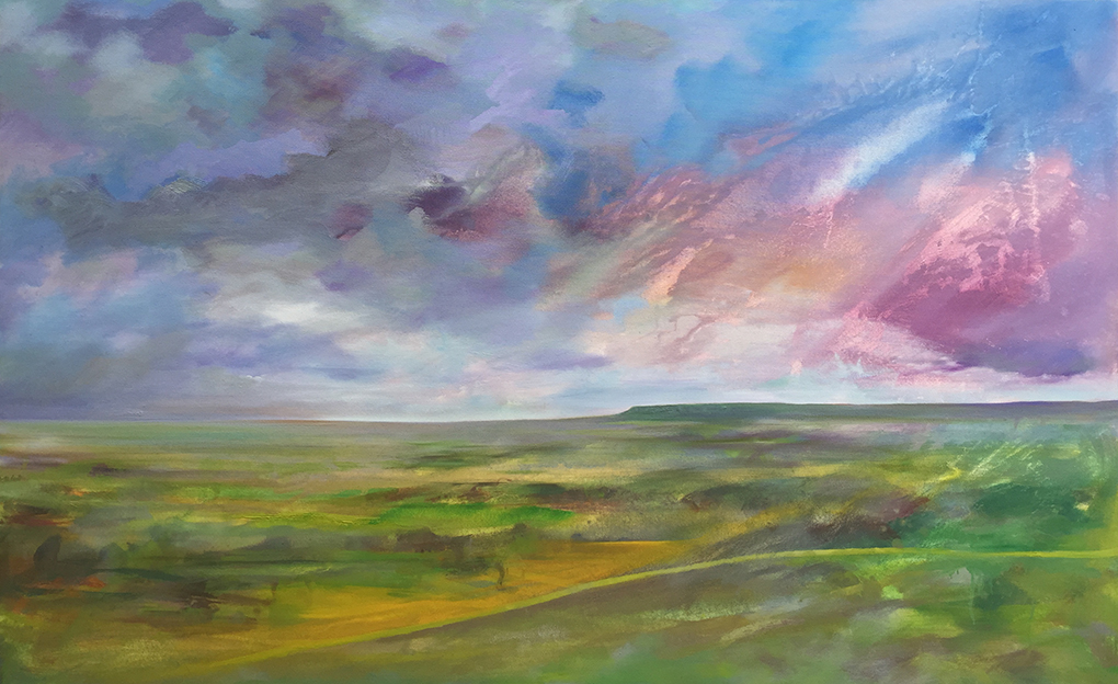 'Vale of York' oil on canvas 150x120cm. £1050