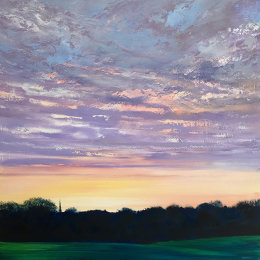 'ChristChurch Sunset' oil on board 35x35cm £450