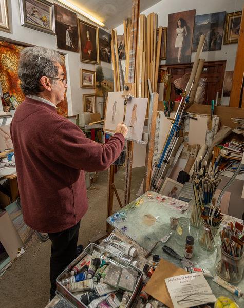 Mike Pettett Artist at Work, C
