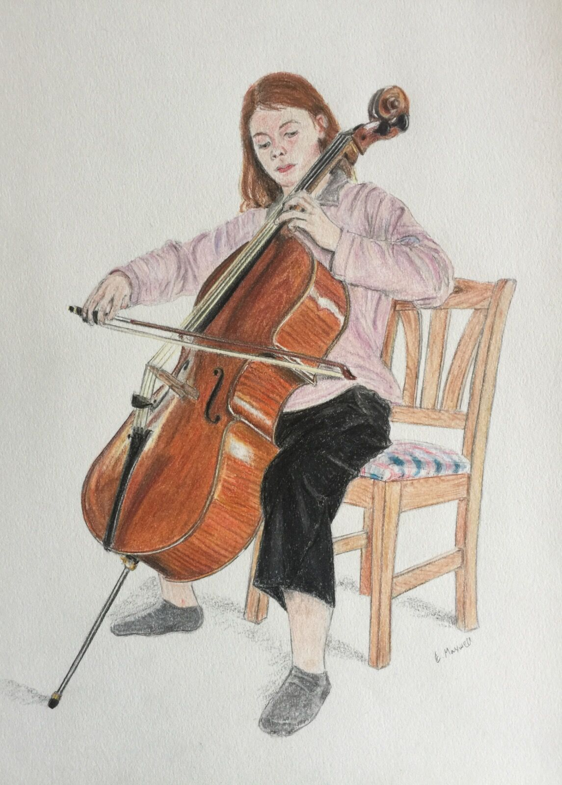 Portrait of a cellist