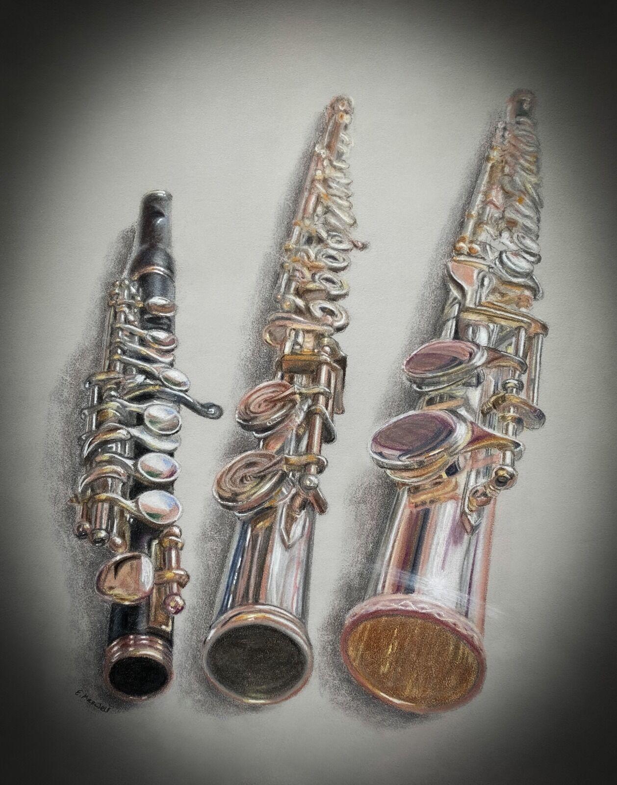 Flute Family (Yamaha YPC-62)/Sankyo Artist Flute/Trevor James Alto