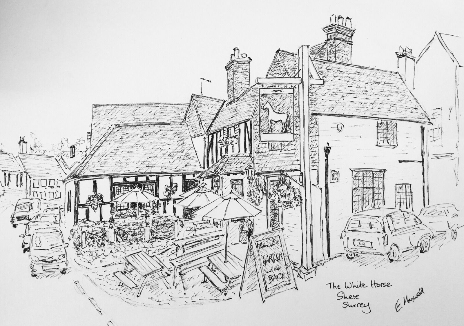 The White Horse, Shere, Surrey