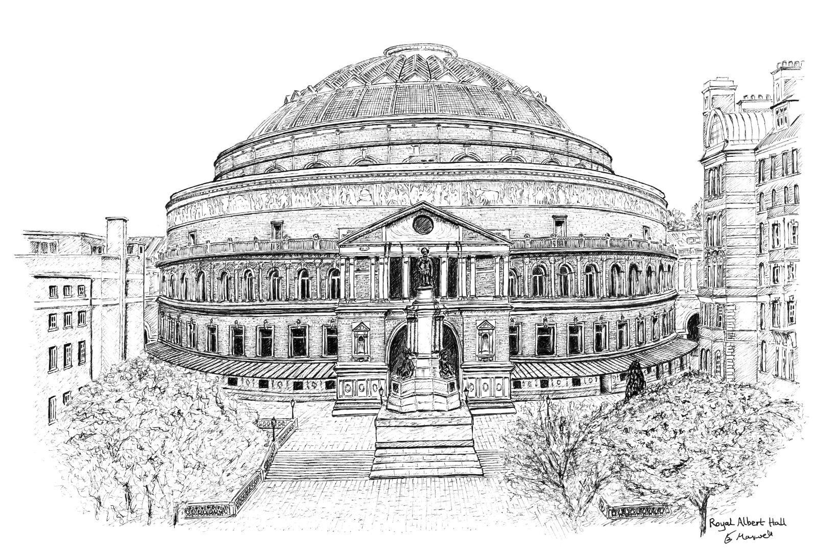 Royal Albert Hall (b&w version)