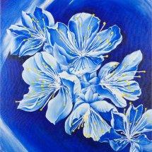 Apple blossom in blue 51x61 Acrylic