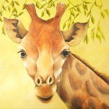 Giraffe Oil on canvas 75x75