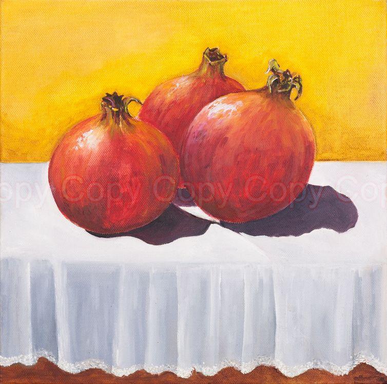 Pomegranate 30x30 Oil on canvas