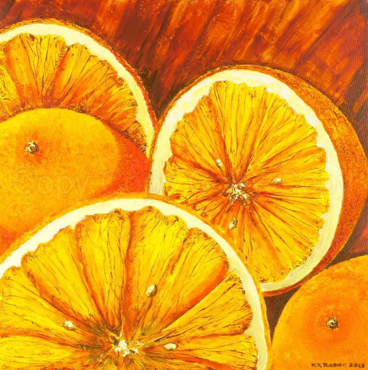 Oranges 41x41 Mixed media