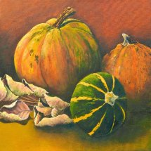 Squashes 30x30 Oil on canvas