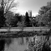 St Marys Church as seen from Falcon Meadow, Bungay