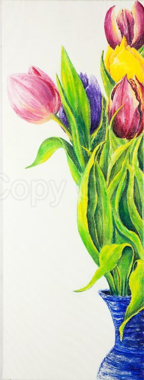 Tulips in a vase 50x70 Acrylic