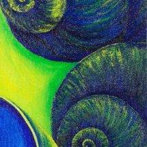 Ultramarine snail shells 20x50 Acrylic