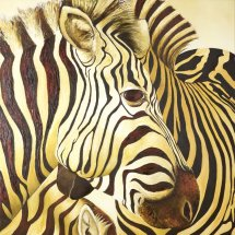 Zebras Oil on canvas 75x75