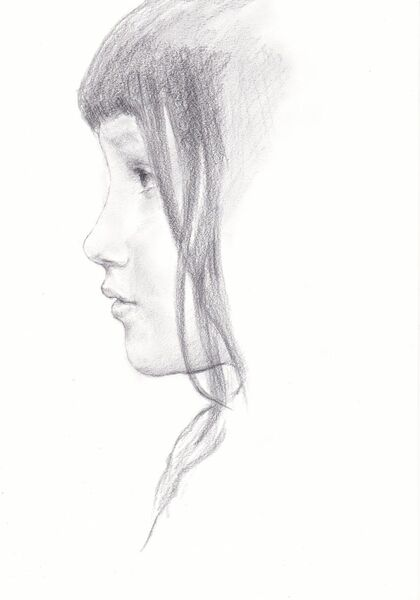 "Eiko Matsuura Drawing Study of ""Kate Millet. January 1891"" by Sir Lawrence Alma-Tadema Graphite on paper 2020 21.0x29.7cm"