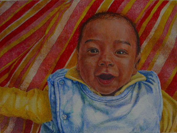 First Smile Egg Tempera on paper 2009 20.5 x 27.0 cm
