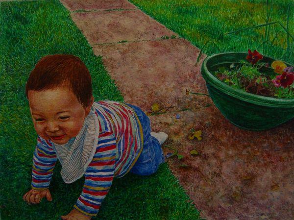 Run Away Quick ! Egg Tempera on paper 2009 20.5 x 27.0 cm