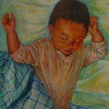 Alex dreaming Egg Tempera on true gesso panel 2012 27.0 x 18.5 cm