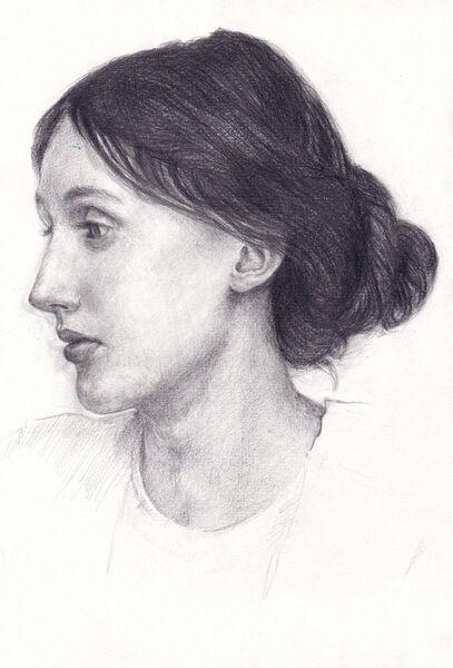 Eiko Matsuura Drawing Virginia Woolf drawing graphite 2019 29.7 x21.0 cm
