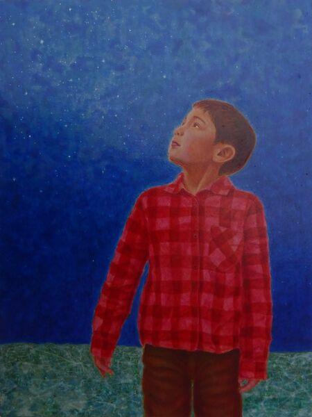 Wonder Begins within Silent Egg Tempera on true gesso 2015 40.5 x 30.0 cm