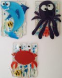 Little sea animals, Crab, Shark, Octopus