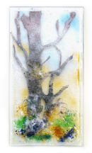 WOODLAND SCENE - SINGLE PANEL OF A TRIPTYCH