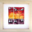 LARGE FRAMED ART - SUNSET REGATTA
