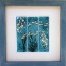 LARGE FRAMED ART - SEAHORSES WITH FISH
