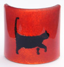 WALKING CAT ON RED T-LIGHT SHADE